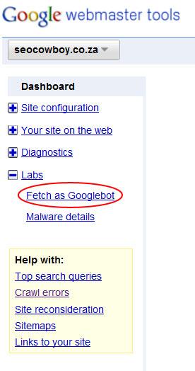 fetch as googlebot