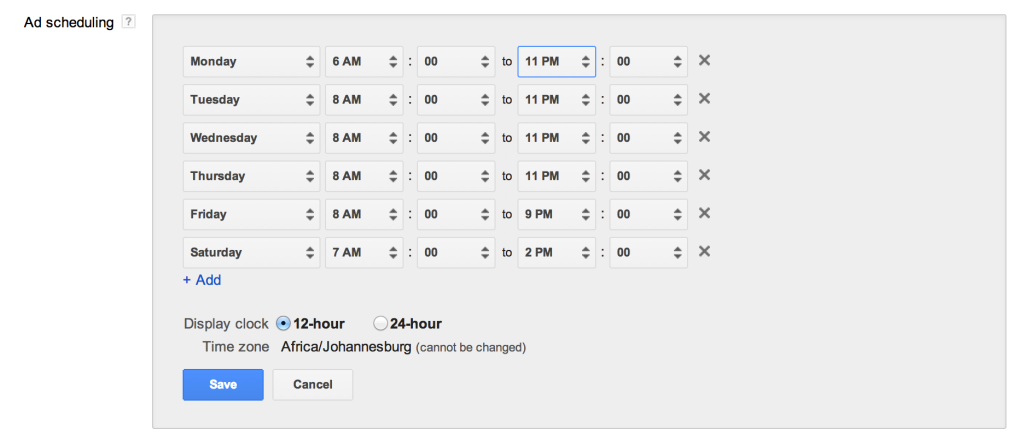 Ad Scheduling In Google AdWords