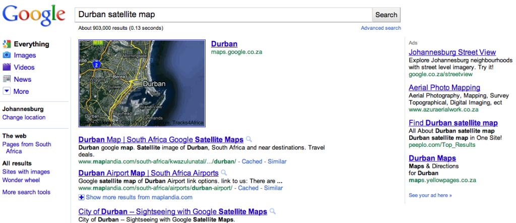 Durban Google Maps
