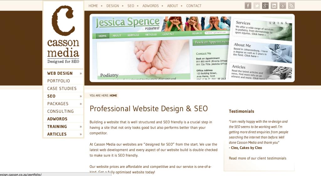 Casson Media Website
