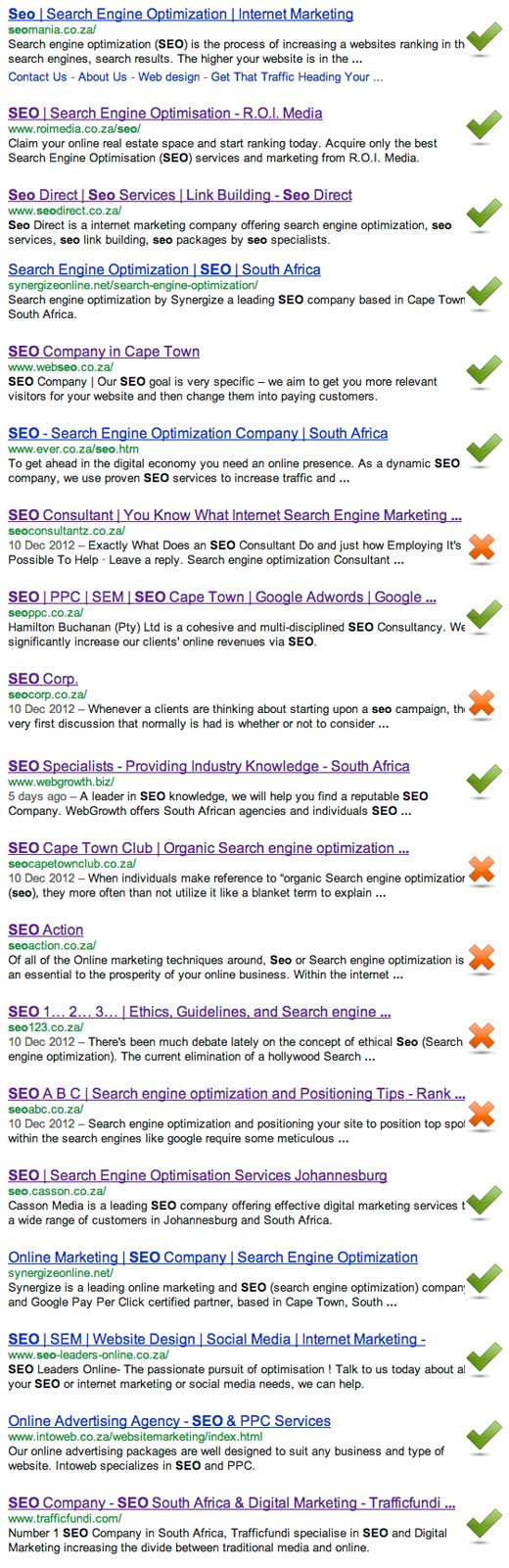 SEO spam in South Africa