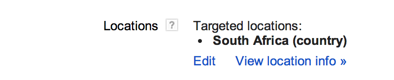 Location Setting In AdWords