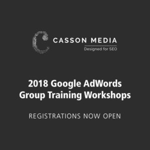 2018 Google AdWords Group Training Workshops